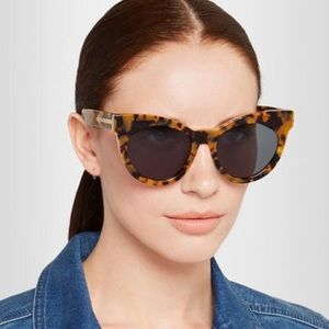 Karen Walker Starburst Cat Eye Tortoise Sunglasses